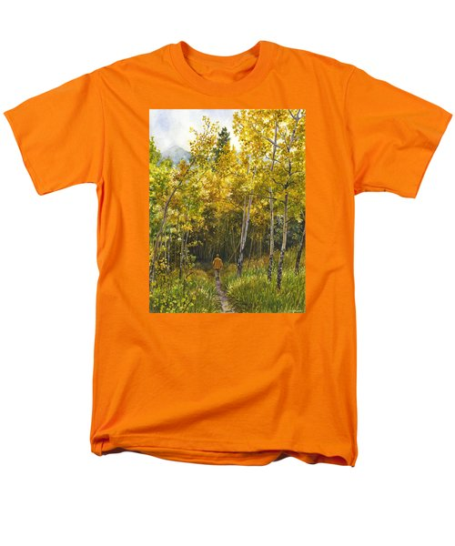 Men's T-Shirt  (Regular Fit) featuring the painting Golden Solitude by Anne Gifford