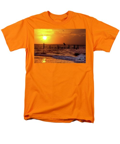 Men's T-Shirt  (Regular Fit) featuring the photograph Golden Sunrise On The Outer Banks by Dan Carmichael