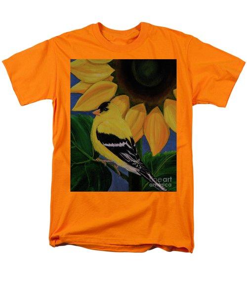 Goldfinch And Sunflower Men's T-Shirt  (Regular Fit) by Jane Axman