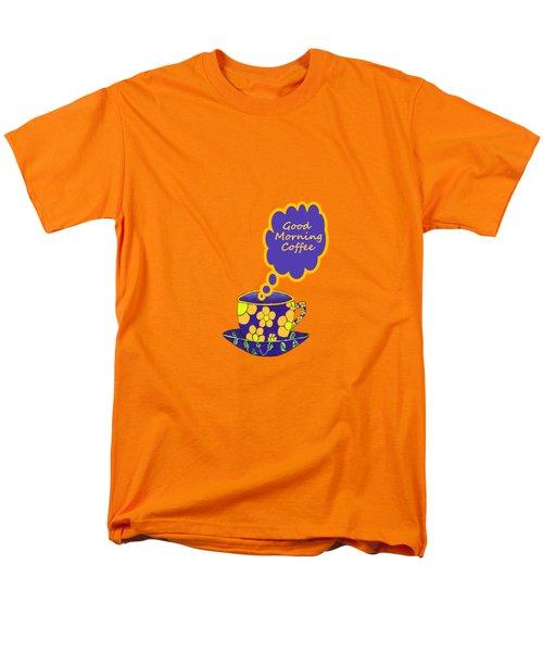 Good Morning Coffee Men's T-Shirt  (Regular Fit) by Kathleen Sartoris