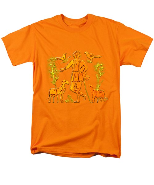 Men's T-Shirt  (Regular Fit) featuring the digital art Good Shepherd by Asok Mukhopadhyay