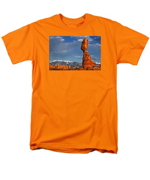 Gravity Defying Balanced Rock, Arches National Park, Utah Men's T-Shirt  (Regular Fit) by Sam Antonio Photography