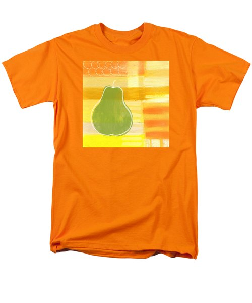 Men's T-Shirt  (Regular Fit) featuring the painting Green Pear- Art By Linda Woods by Linda Woods