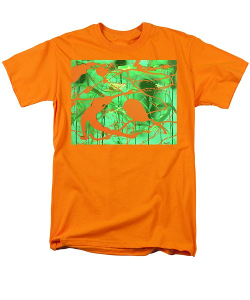 Men's T-Shirt  (Regular Fit) featuring the painting Green Spill by Thomas Blood