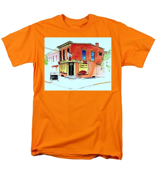 Men's T-Shirt  (Regular Fit) featuring the painting Grodzicki's Market by William Renzulli