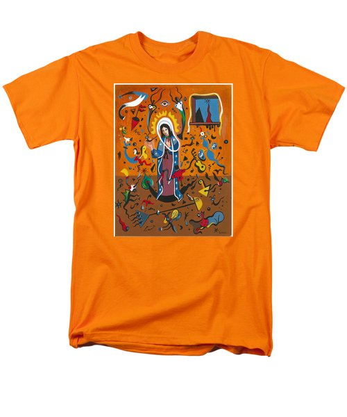 Guadalupe Visits Miro Men's T-Shirt  (Regular Fit) by James Roderick