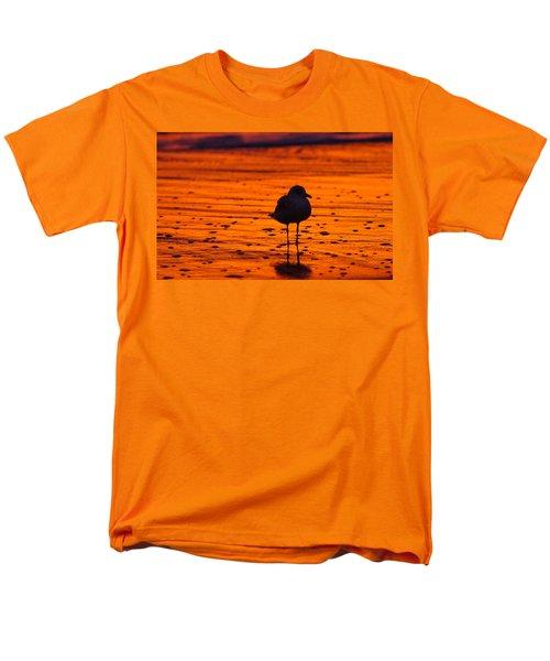 Gull Caught At Sunrise Men's T-Shirt  (Regular Fit) by Allan Levin