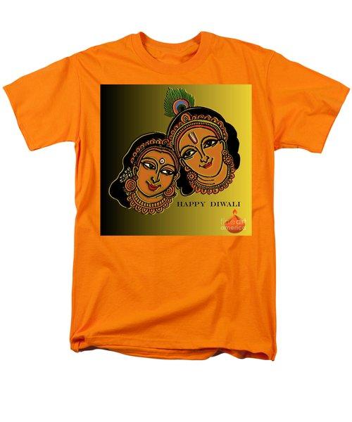 Happy Diwali Men's T-Shirt  (Regular Fit) by Latha Gokuldas Panicker