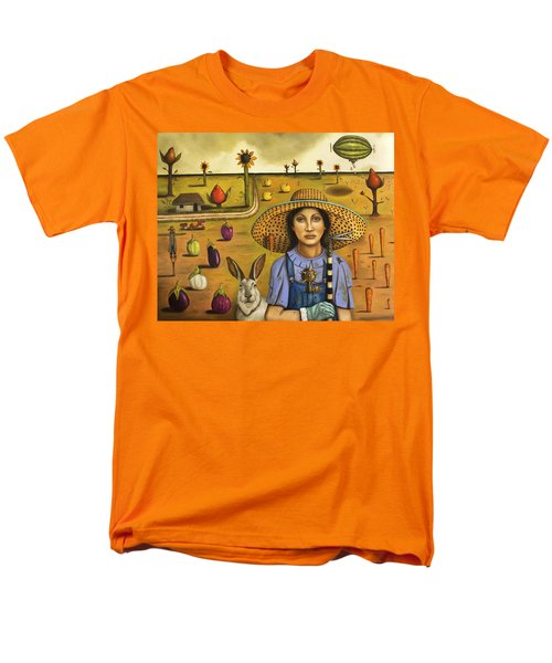Harvey And The Eccentric Farmer Men's T-Shirt  (Regular Fit) by Leah Saulnier The Painting Maniac