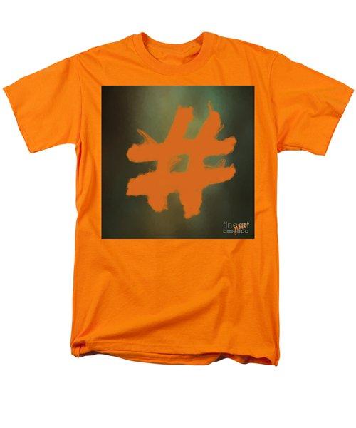 Men's T-Shirt  (Regular Fit) featuring the digital art Hashtag by Jim  Hatch