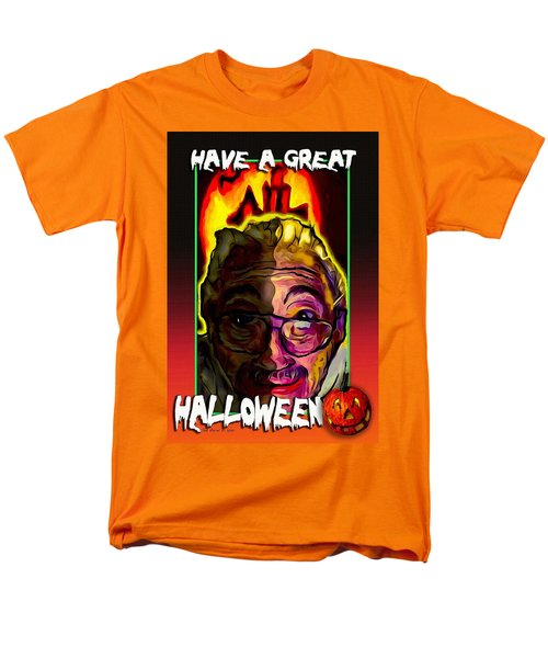 Men's T-Shirt  (Regular Fit) featuring the painting Have A Great Halloween by Ted Azriel
