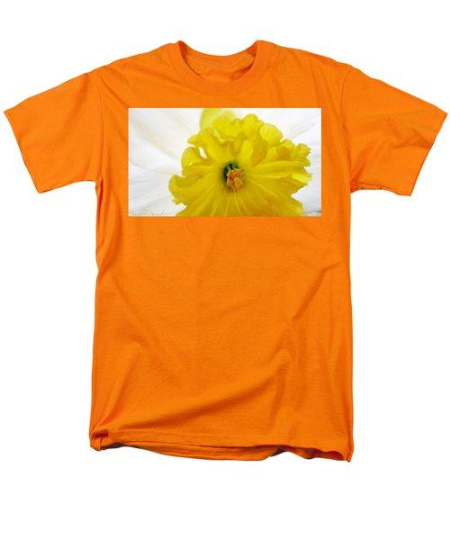 Heart Of A Daffodil  Men's T-Shirt  (Regular Fit) by Danielle  Parent