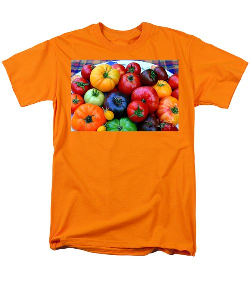 Men's T-Shirt  (Regular Fit) featuring the photograph Heirloom Tomatoes by Vivian Krug