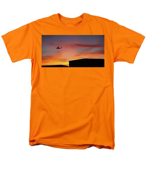 Helicopter And The Sunset Men's T-Shirt  (Regular Fit) by Angi Parks