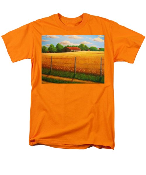 Men's T-Shirt  (Regular Fit) featuring the painting Home On The Farm by Gene Gregory