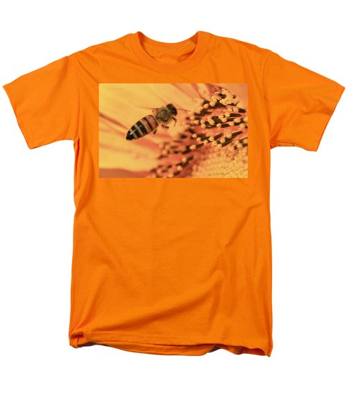 Men's T-Shirt  (Regular Fit) featuring the photograph Honeybee And Sunflower by Chris Berry