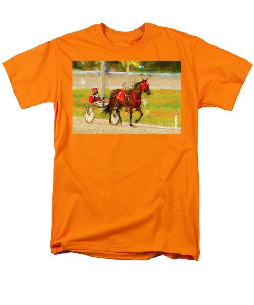 Horse, Harness And Jockey Men's T-Shirt  (Regular Fit) by Les Palenik