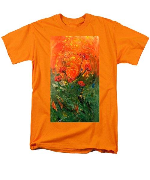 Hot Summer Poppies Men's T-Shirt  (Regular Fit) by Dorothy Maier
