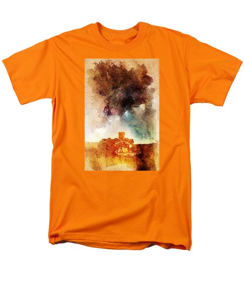 Men's T-Shirt  (Regular Fit) featuring the digital art House And Night by Andrea Barbieri