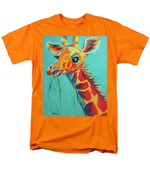 Men's T-Shirt  (Regular Fit) featuring the painting Hungry Giraffe by Susan DeLain