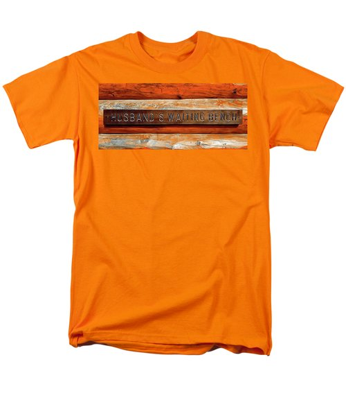 Husband's Waiting Bench - Denali National Park Men's T-Shirt  (Regular Fit) by Joseph Hendrix