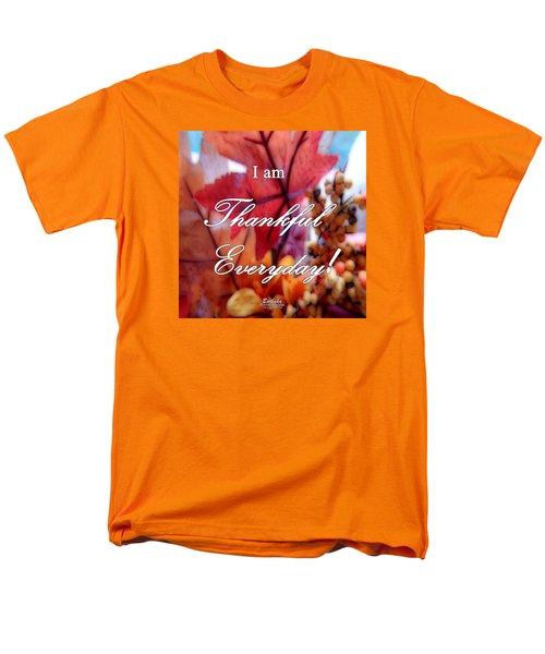 I Am Thankful # 6059 Men's T-Shirt  (Regular Fit) by Barbara Tristan