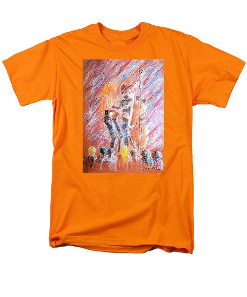 Men's T-Shirt  (Regular Fit) featuring the painting I Love Bluegrass by Bill Holkham