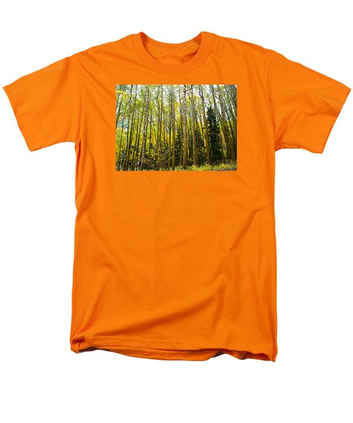 Men's T-Shirt  (Regular Fit) featuring the photograph Iconic Colorado Aspens by Laura Ragland