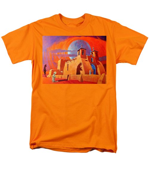 Men's T-Shirt  (Regular Fit) featuring the painting In The Shadow Of St. Francis by Art West