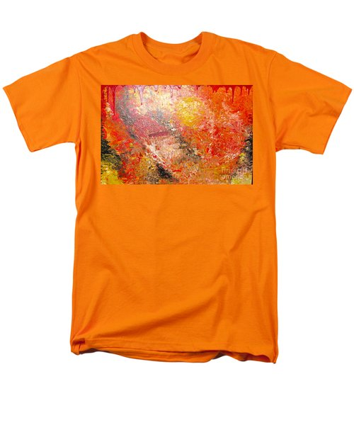 Men's T-Shirt  (Regular Fit) featuring the painting Inferno by Jacqueline Athmann