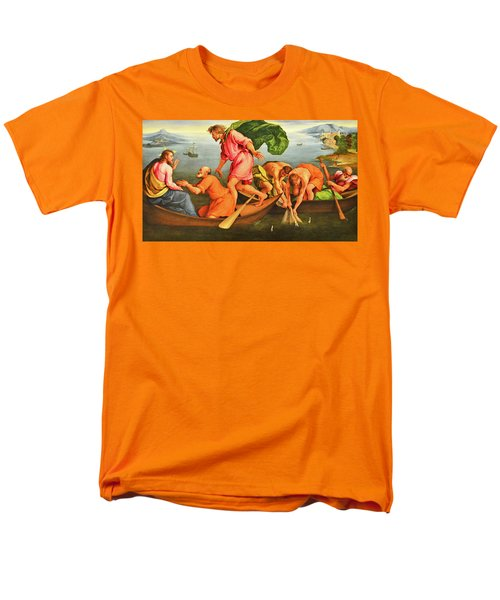 Men's T-Shirt  (Regular Fit) featuring the photograph Jacopo Bassano Fishes Miracle by Munir Alawi