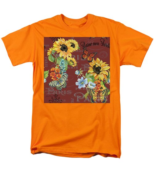 Men's T-Shirt  (Regular Fit) featuring the painting Jaime Mon Jardin-jp3988 by Jean Plout