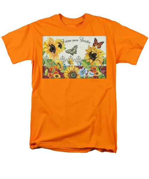 Men's T-Shirt  (Regular Fit) featuring the painting Jaime Mon Jardin-jp3990 by Jean Plout