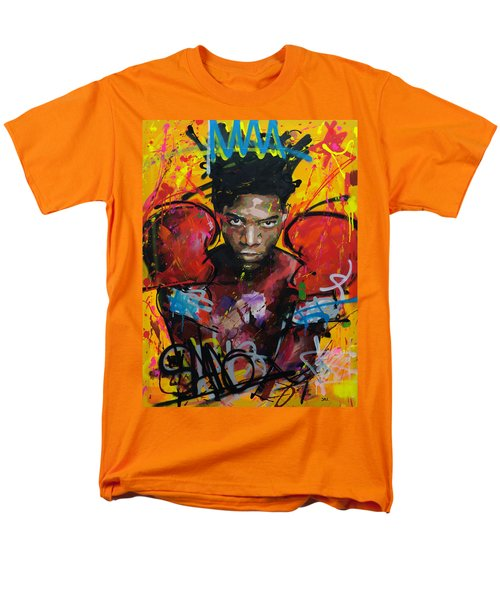 Men's T-Shirt  (Regular Fit) featuring the painting Jean-michel Basquiat by Richard Day