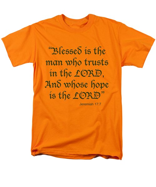 Jeremiah 17 7 Blessed Is The Man Men's T-Shirt  (Regular Fit) by M K  Miller