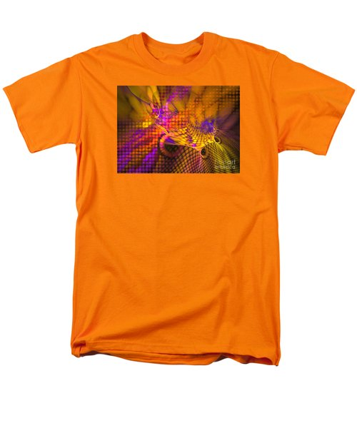 Men's T-Shirt  (Regular Fit) featuring the digital art Joyride - Abstract Art by Sipo Liimatainen