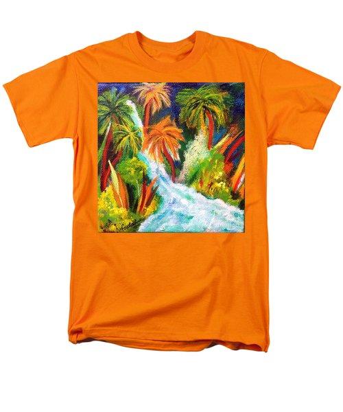 Jungle Falls Men's T-Shirt  (Regular Fit) by Elizabeth Fontaine-Barr