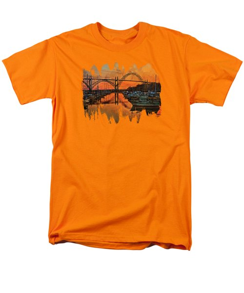Just After Sunset On Yaquina Bay Men's T-Shirt  (Regular Fit) by Thom Zehrfeld