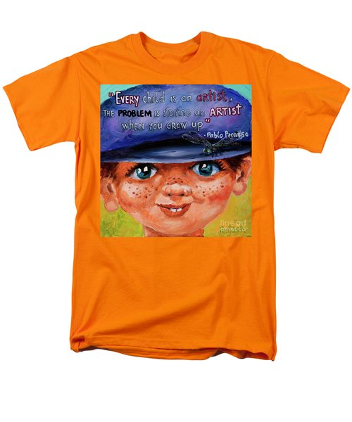 Men's T-Shirt  (Regular Fit) featuring the painting Kid by Igor Postash