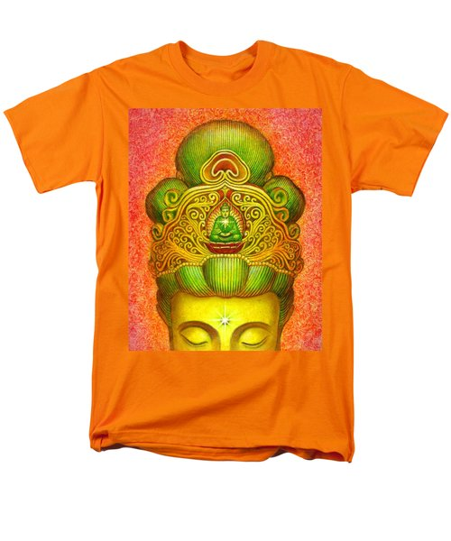 Kuan Yin's Buddha Crown Men's T-Shirt  (Regular Fit) by Sue Halstenberg
