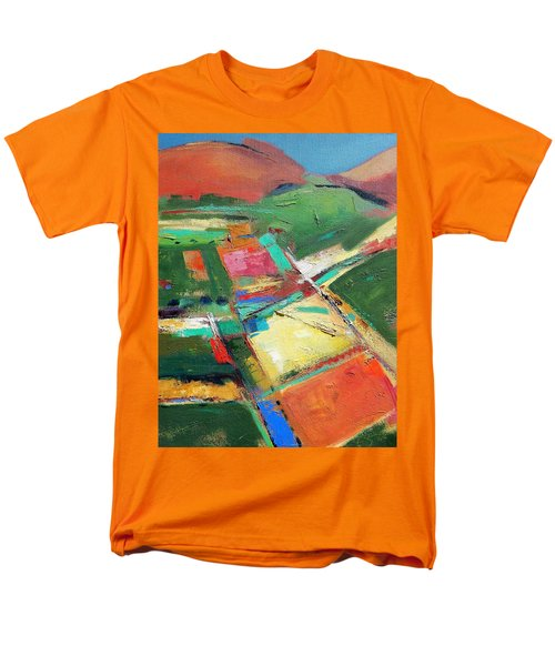 Land Patches Men's T-Shirt  (Regular Fit) by Gary Coleman