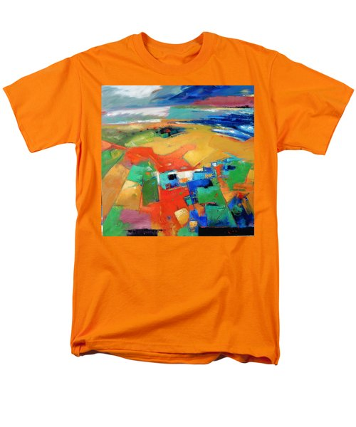 Men's T-Shirt  (Regular Fit) featuring the painting Landforms, Suggestion Of A Memory by Gary Coleman