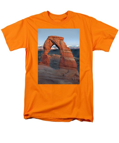 Last Light On Delicate Arch  Men's T-Shirt  (Regular Fit) by Jeff Brunton