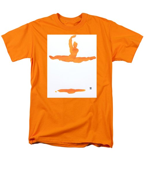 Leap Brush Orange 1 Men's T-Shirt  (Regular Fit) by Shungaboy X