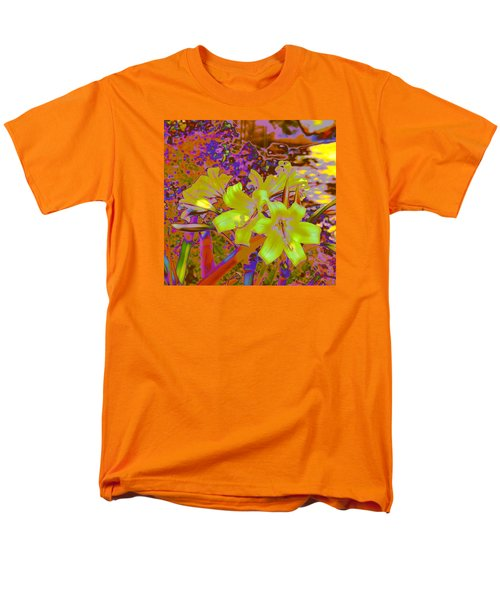 Men's T-Shirt  (Regular Fit) featuring the photograph Lily Glow Yellow by M Diane Bonaparte