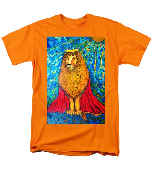 Men's T-Shirt  (Regular Fit) featuring the painting Lion-king by Rae Chichilnitsky