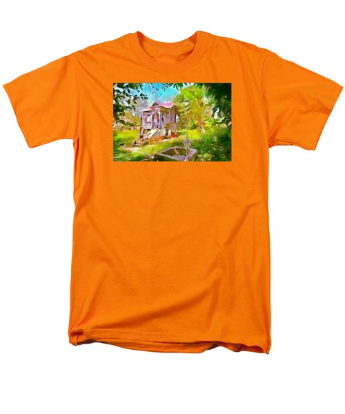 Caribbean Scenes - Little Country House Men's T-Shirt  (Regular Fit) by Wayne Pascall