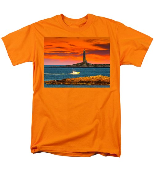 Lobster Boat Cape Cod Men's T-Shirt  (Regular Fit) by Randall Branham
