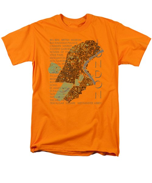London Classic Map Men's T-Shirt  (Regular Fit) by Jasone Ayerbe- Javier R Recco