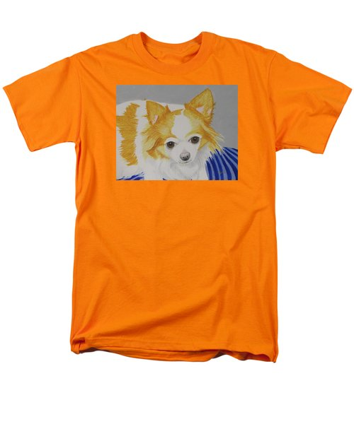 Men's T-Shirt  (Regular Fit) featuring the painting Long-haired Chihuahua by Hilda and Jose Garrancho